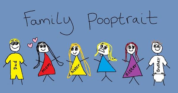family pooptrait